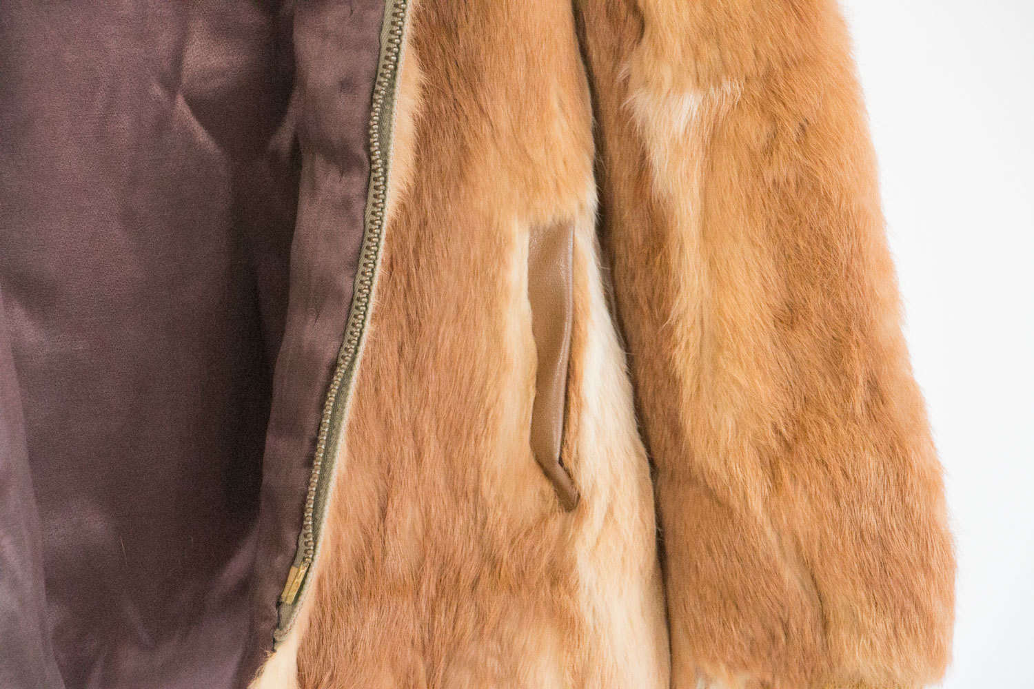 1960's Custom Fox Fur Jacket with Hood // One of a Kind! // Rustic Mid Century High Fashion //  Warm // Hipster