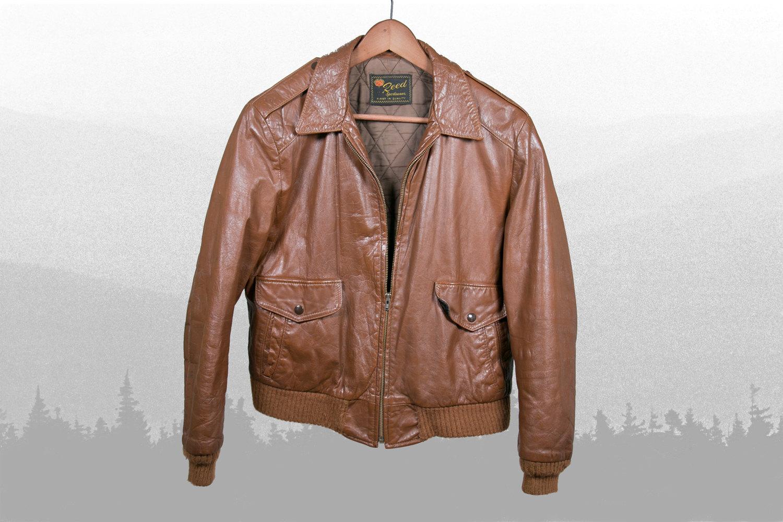 Rare Vintage 1960's Reed Sportswear Leather Flight Aviator Jacket, Quilt Lined, DETROIT, Men's Medium - Rocker, Hipster, Indie, Retro