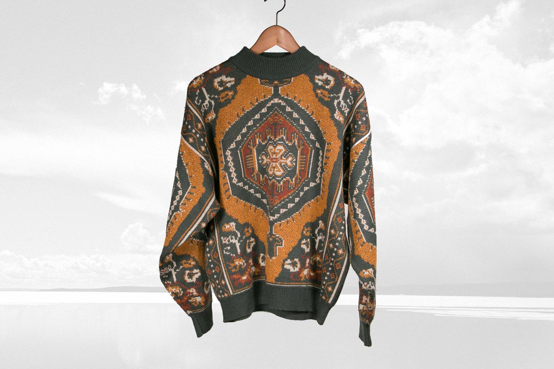 Rare Vintage Bonjour International 1980's Sweatshirt - Avante Garde, Eccentric, Boho, Retro