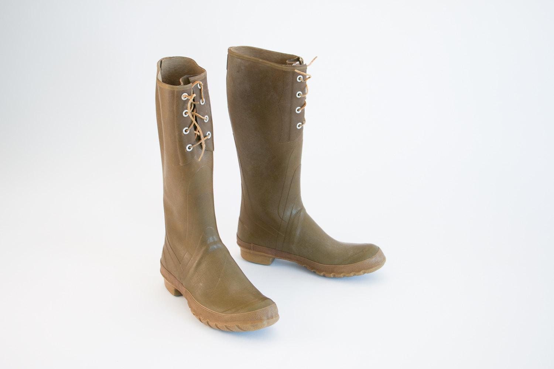 Rare Vintage Converse Rubber Rain / Fishing Boots - Men's Size 8 or Women's Sz 10 - 1950's - 1960's - Mid Century, Hipster, Retro, Americana