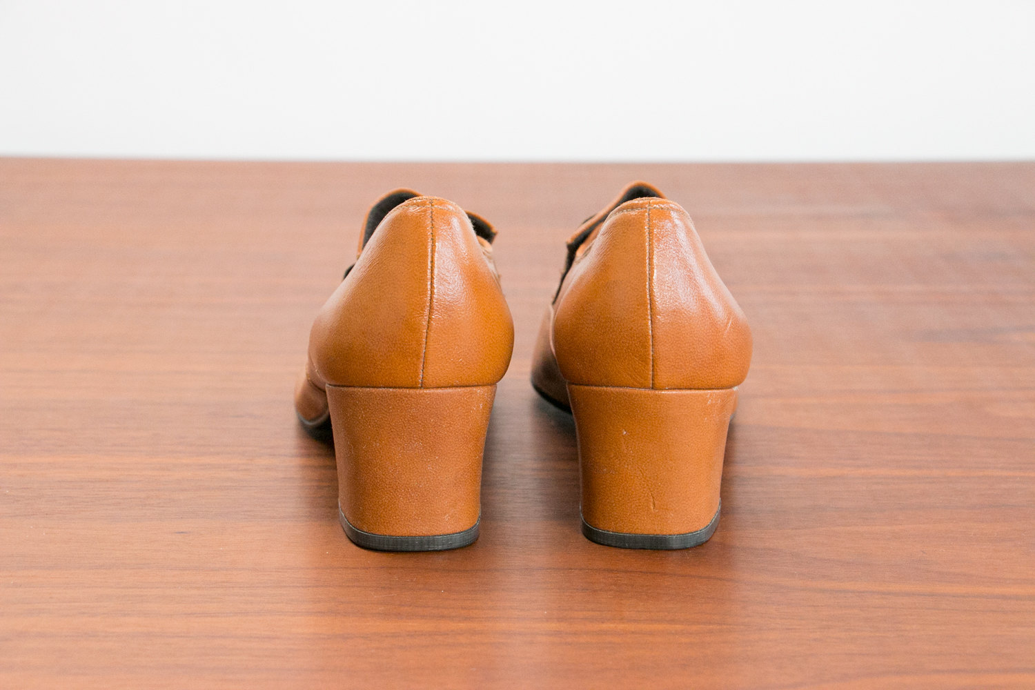 Vintage 1960's-1970's Deadstock / NOS Women's Shoes - JCPenney Gaymode - Size 8.5 M - Leather, Tan, Heals - Mid Century