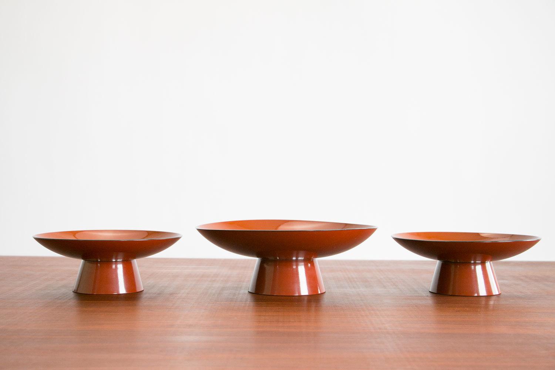 Vintage 1960's Asian Modern Stacking Bowl Set / Pagoda.  3 Bowls.  Lacquerware.  Mid Century Modern, MCM, Retro, Hipster.