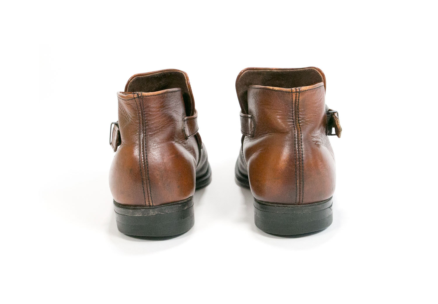 Vintage 1960's Brown Leather Ankle Boots //  Men's Size 8 Women's Size 9 // Leather Classics by Mason //  Mod // Beatle // Hipster // Retro