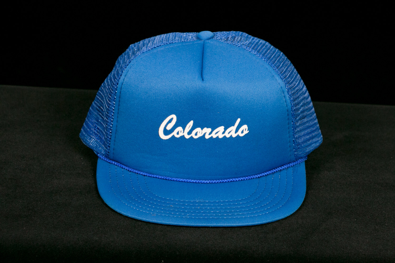 Vintage 1970's Blue Colorado Trucker Cap - Hipster, Indie