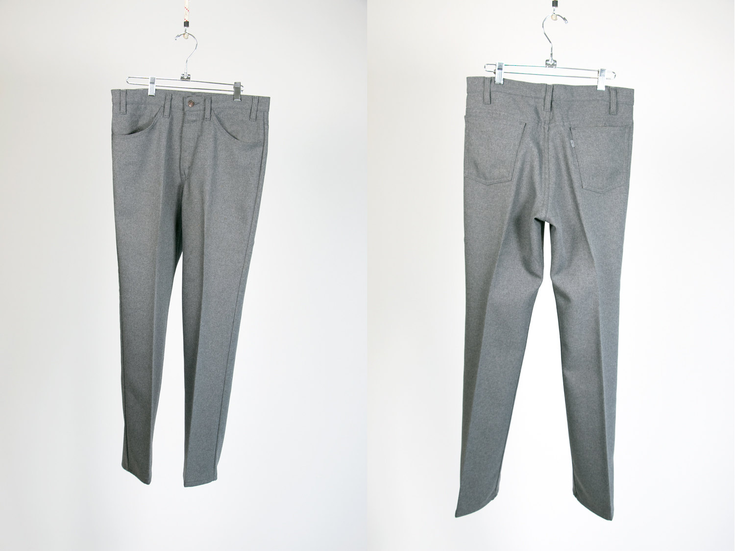 Vintage 1970's Levi's Sta-Prest W33 L30 Spotted Grey Charcoal Pants