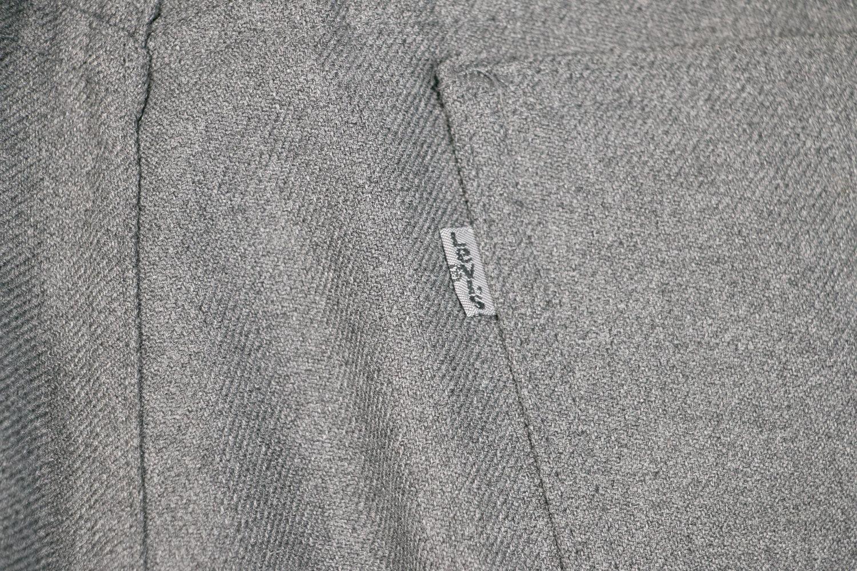 Vintage 1970's Levi's Sta-Prest W33 L30 Spotted Grey Charcoal Pants