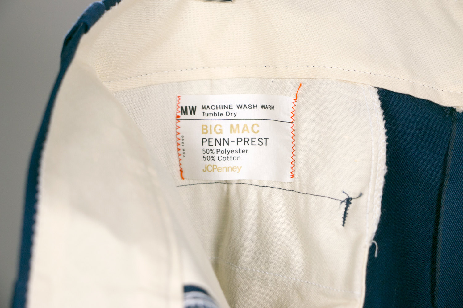 Vintage 1970's Men's Work Pants JCPenney, Big Mac Perm-Prest - Size W36 L28 - Like Dead Stock! - Retro, Hipster,