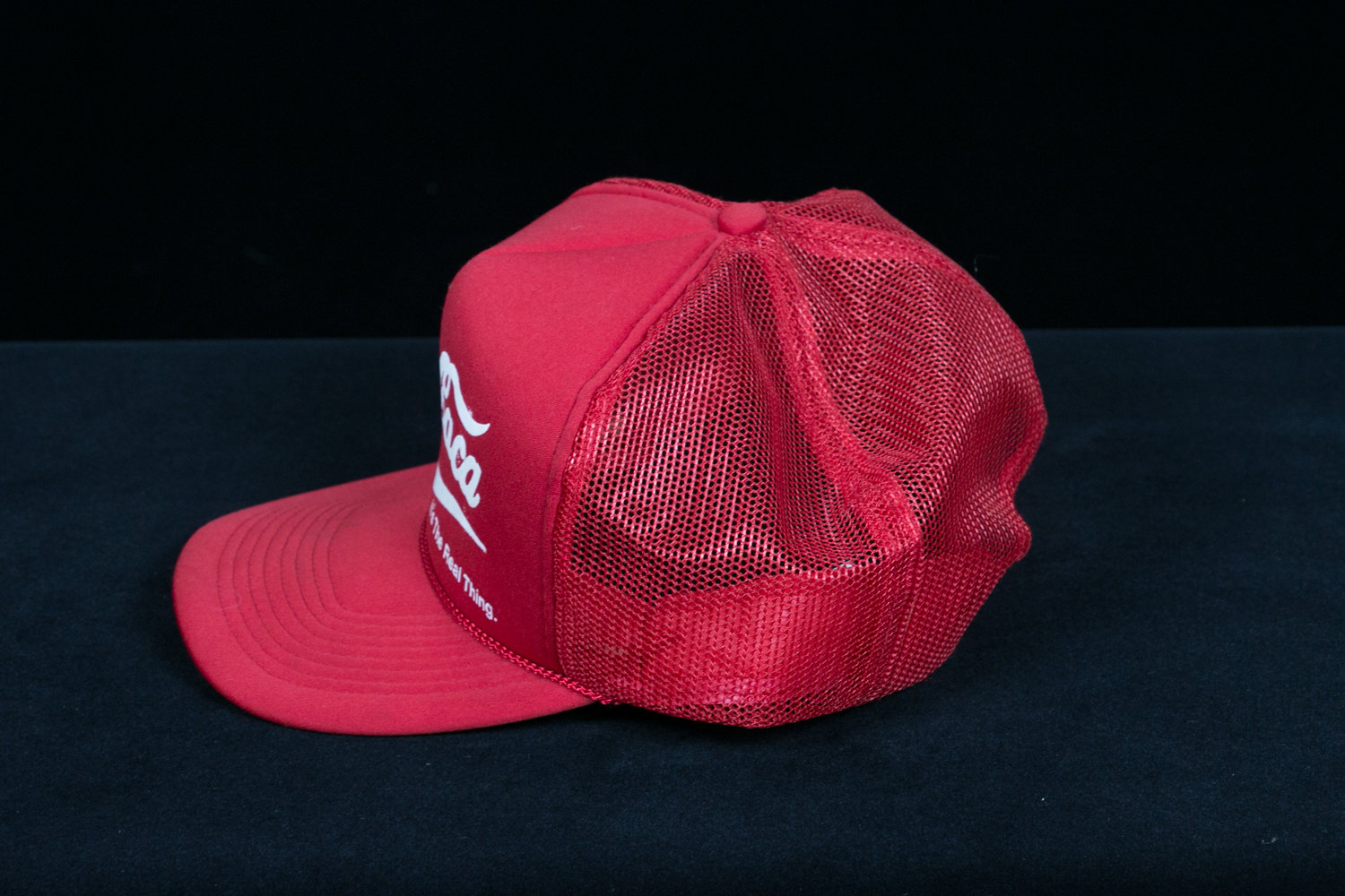 """Vintage 1980's Come Caca Coca Cola (""""Eat Shit"""") Spanish Trucker Cap - Anti-Corporate, Hipster, Indie"""