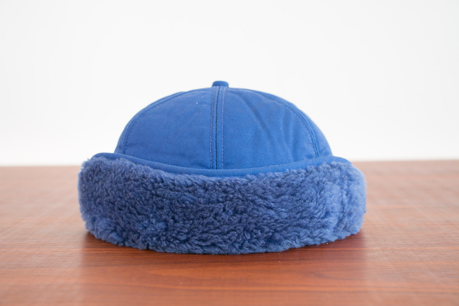 Vintage 1980's Fur Lined Trucker Hat with Ear Flaps, Insulated - Blue - Central Sands Sales Inc.  - Retro, Hipster, Indie