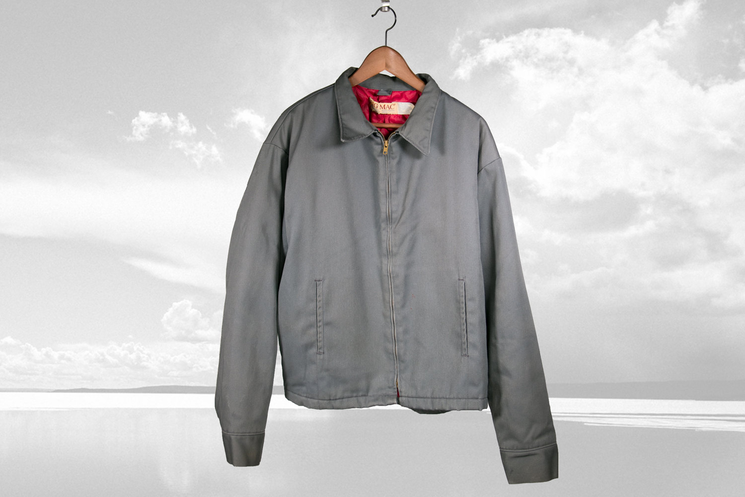 Vintage Big Mac Mechanic / Worker's Jacket, Grey and Red, Quilt lined