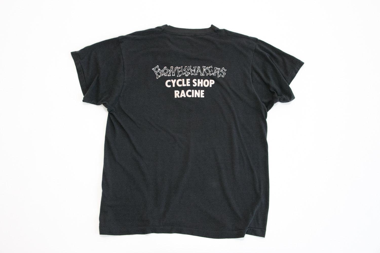 Vintage Flat Track Racing T-Shirt, Large // 1986 Elkhorn CBS-AMA // Boneshakers Cycle Shop // Motorcycle // Harley Davidson // Cafe Racer