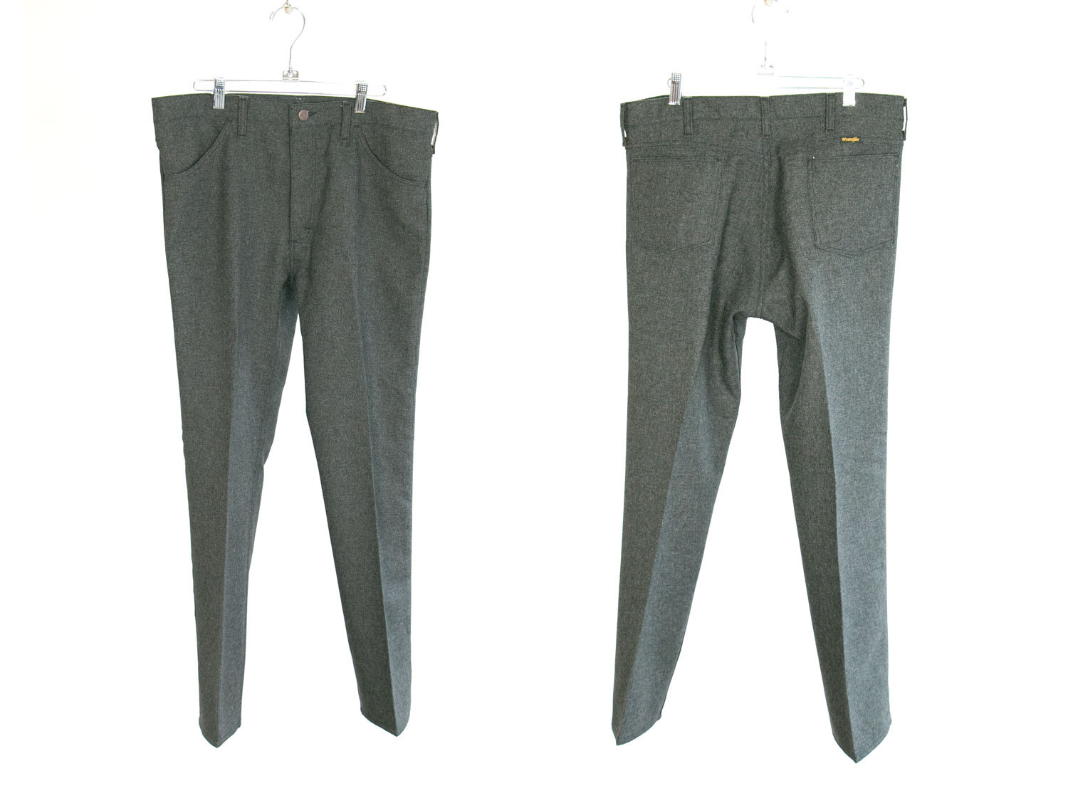 Vintage Wrangle Wrancher Sta-Prest, Perma Prest, W36 L30 // Speckled Gray // Hipster // Country Western