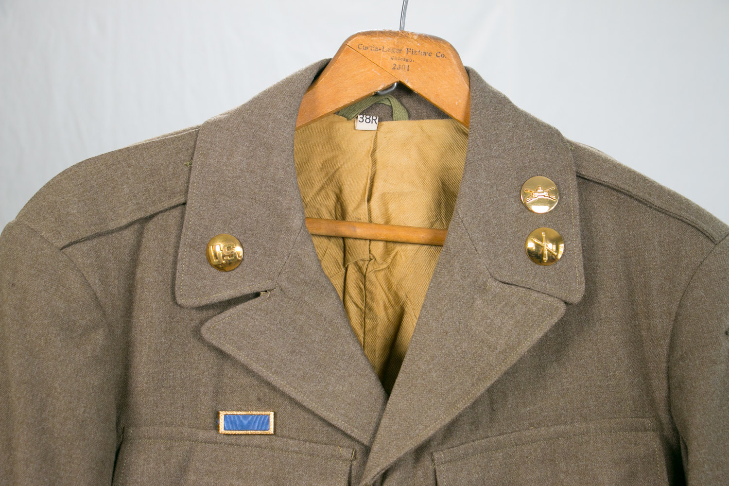 WWII 40th Infantry Airborne Corps Army Jacket - 38R Wool - Amazingly Preserved - Hipster Military Coat