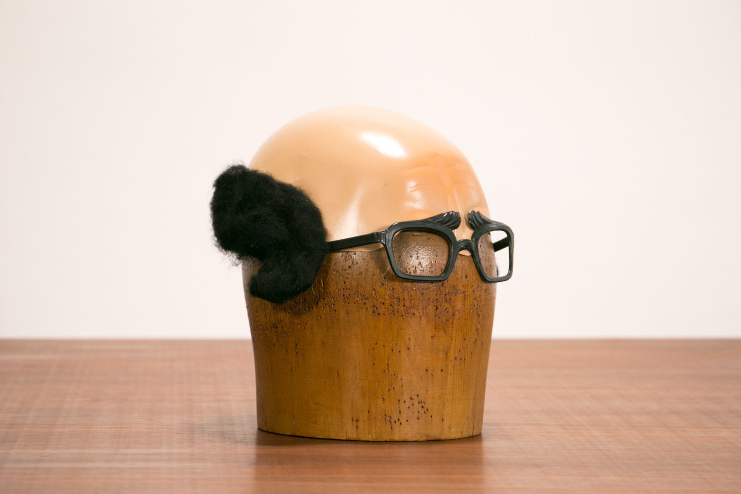 Rare 1960's Vintage French Halloween Mask - Bald Man Cap with Glasses!