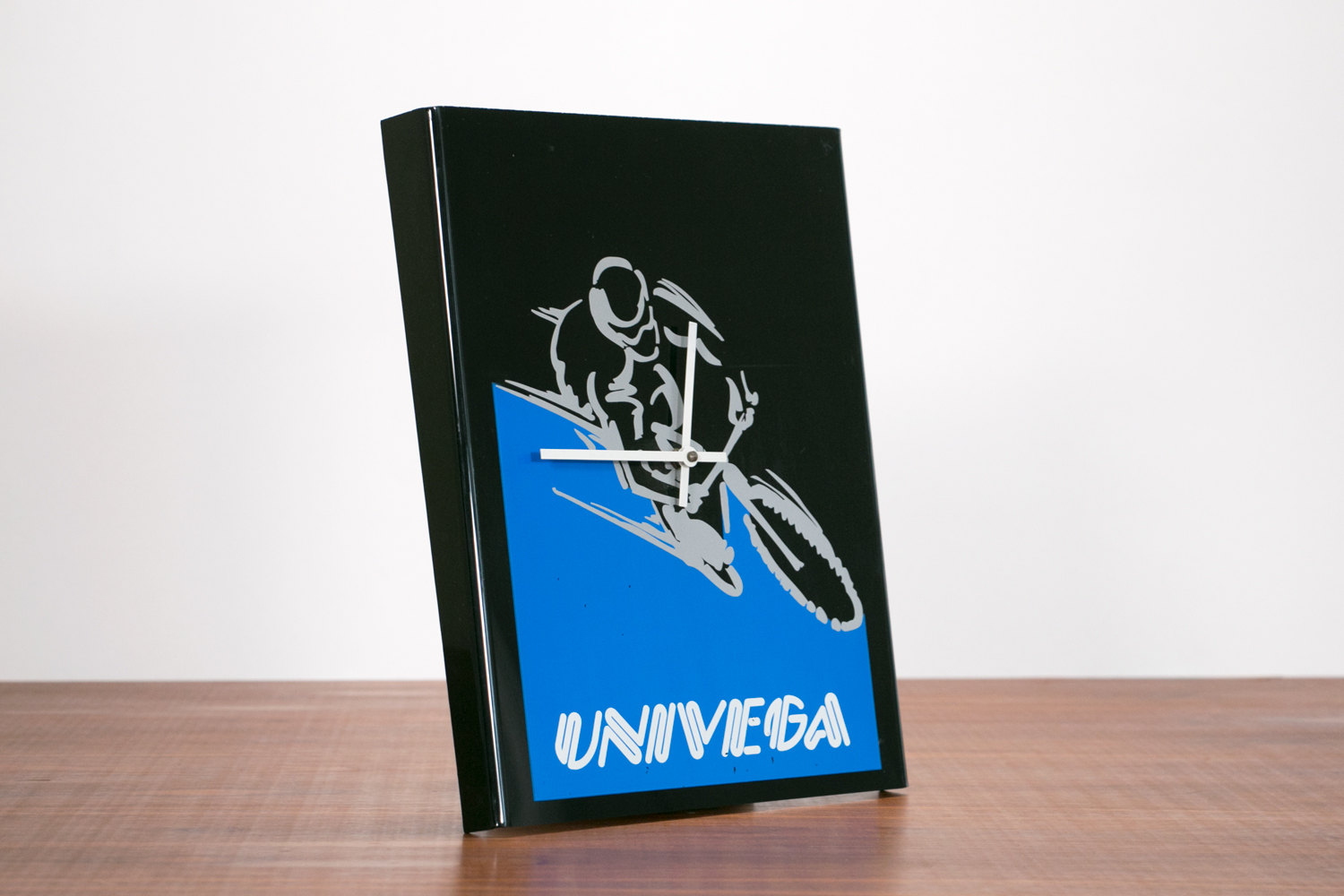 "Rare Vintage 15"" Univega Bicycle Advertising Clock // Cycling, Fixed Gear, Hipster"