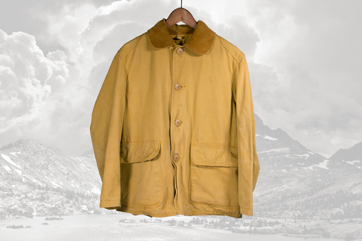 Rare Vintage 1960's JC Higgins for Sears Duck Hunting / Fishing Jacket / Coat- Golden Brown, L-XL, Cotton Canvas & Corduroy