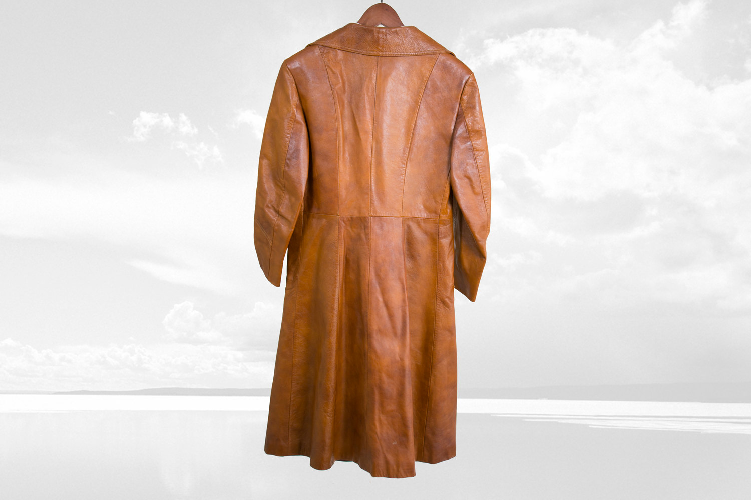 Rare Vintage 1970's Women's Leather Mod Dress Coat - Hipster, Indie, Folk, Country, Hippie, Retro