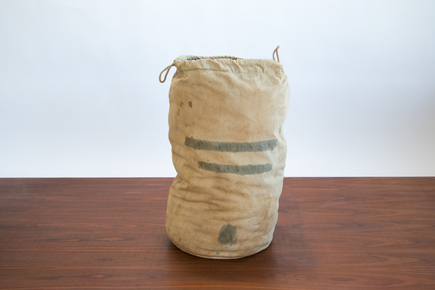 Vintage 1940's Laundry Bag / Mail Bag / Duffel Bag // Large with Ink Markings //  Retro, Hipster, Rustic, Mid Century, Military
