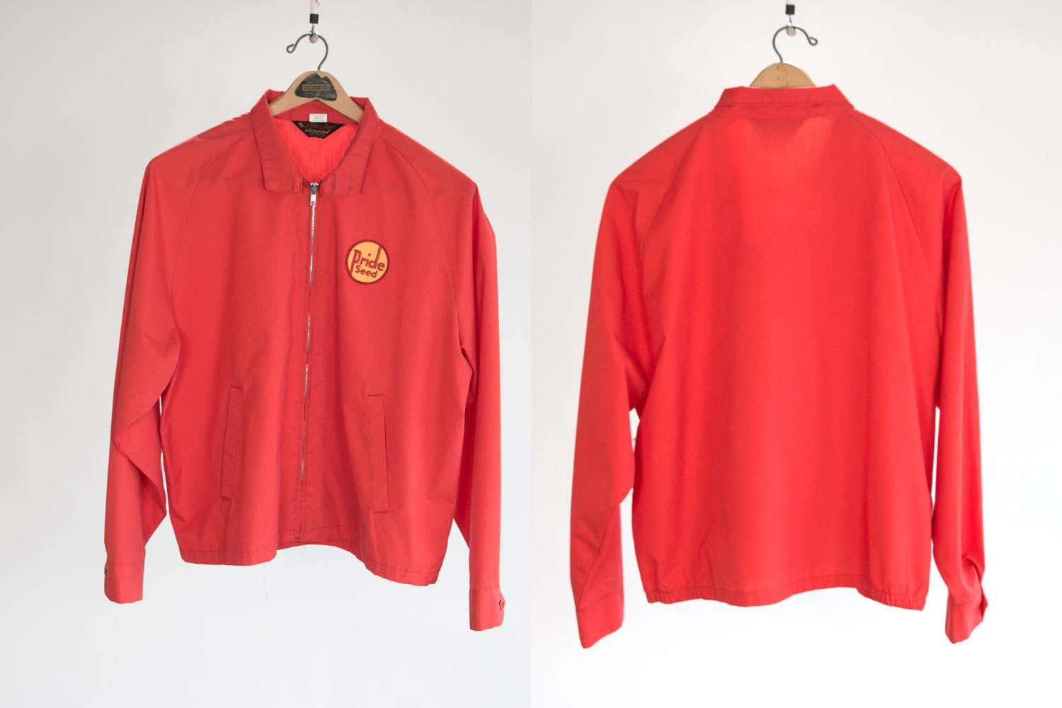 Vintage 1950's PRIDE SEED Uniform Jacket // Sz XL 48-50 //  Red,  Pla-Jac // Rockabilly // Indie // Hipster // Country Western // American
