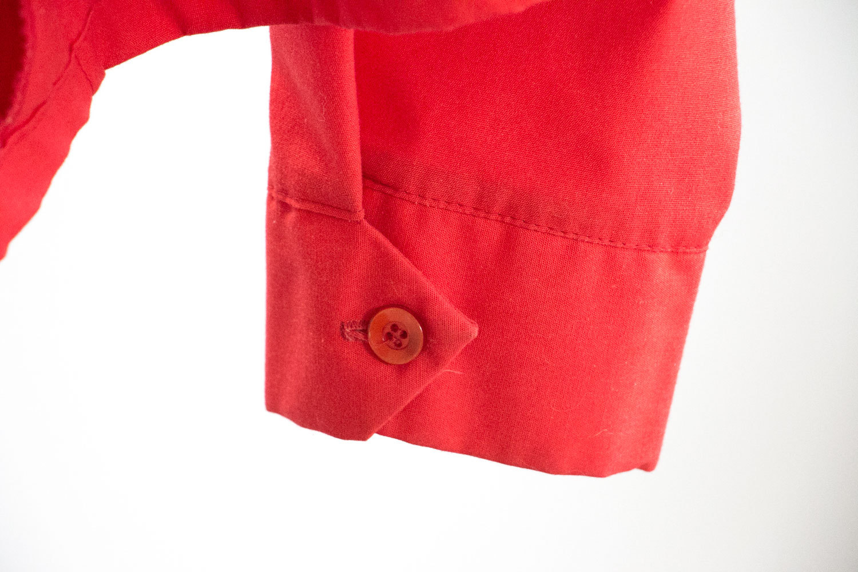 Vintage 1950's PRIDE SEED Uniform Jacket // Sz XL 48-50 //  Red,  Pla-Jac // Rockabilly // Indie // Hipster // Country Western // American