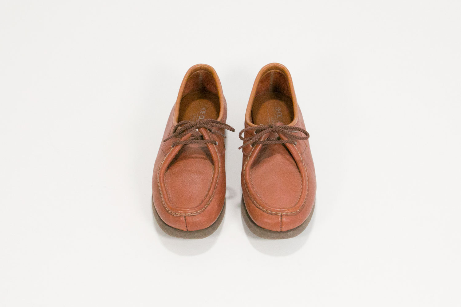Vintage 1960's / 1970's Women's Leather Loafers // Women's Size 7 - 7.5 // JCPenney Shoe Classics