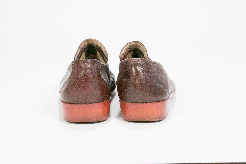 Vintage 1970's Italian Leather Oxblood Loafers w Salmon Soles // Men's Size 10 // Thom McAn Oakwoods // Retro // Hipster // Rocker
