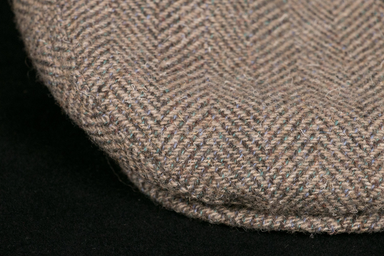 "Vintage 1970's Pendleton Wool Tweed Flat Cap - Houndstooth, Newsie Cap, Beige, Large 7 1/4, 7 3/8, 23""-23 3/8"""