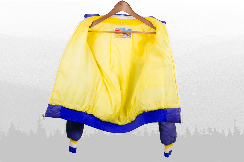 Vintage 1970's Weatherproof Winter Jacket, Women's Medium, Amerex of California - Yellow, Purple, & White - Indie, Hipster, Retro, Snow