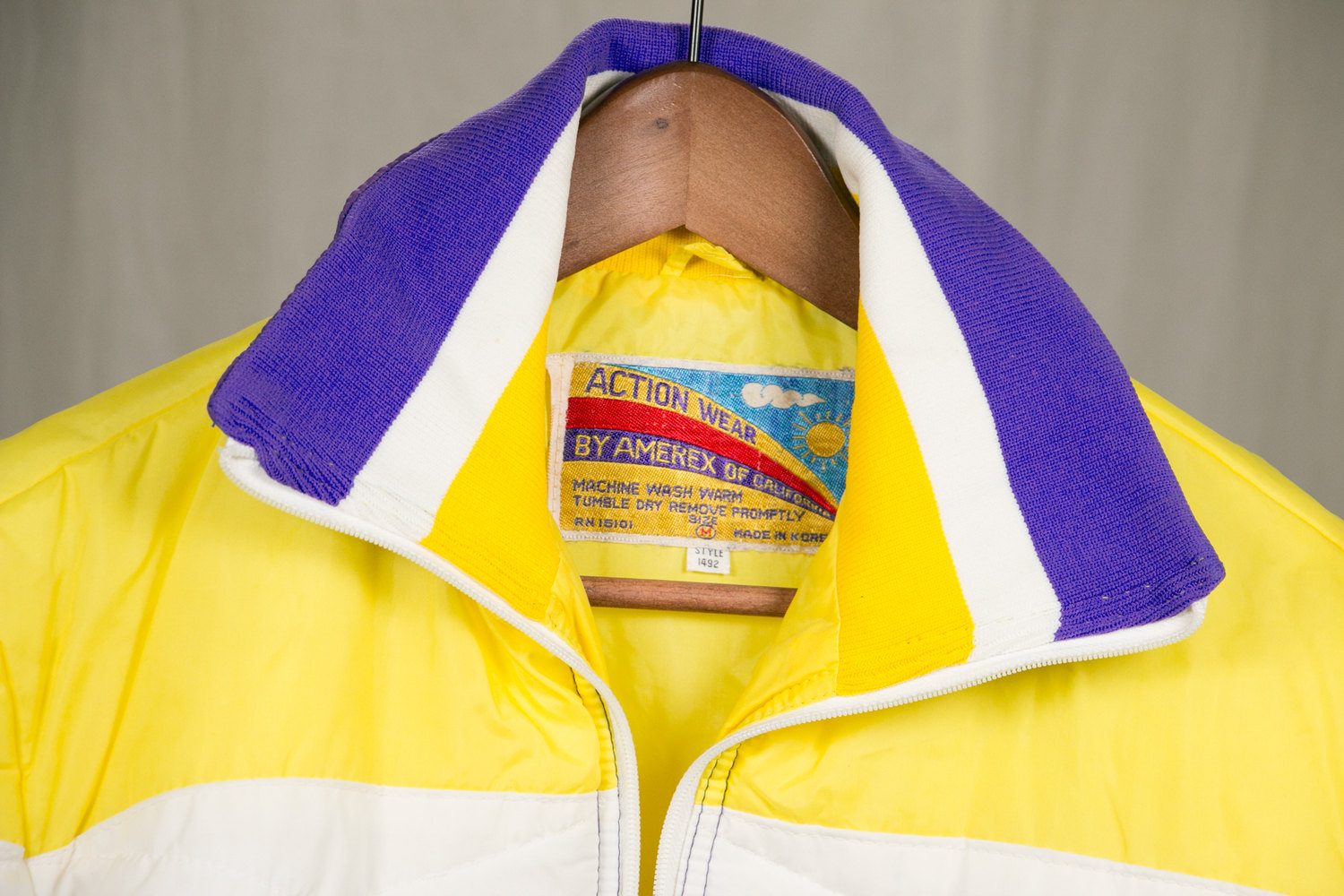 Vintage 1970's Weatherproof Winter Jacket, Women's Medium, Amerex of California - Yellow, Purple, & White - Indie, Hipster, Retro, Snow