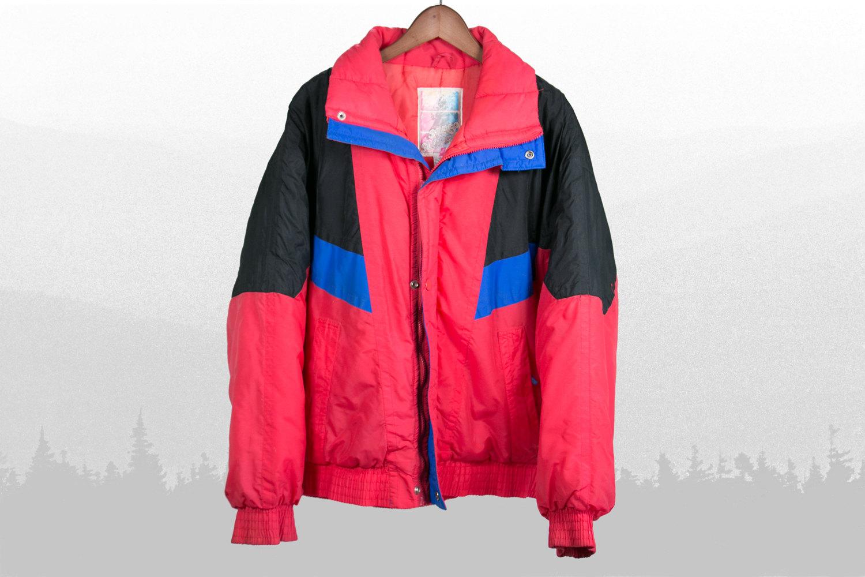 Vintage 1980's Winter / Ski Jacket - SUPER SLOPES - Men's Large - Weirdo Hipster, Indie
