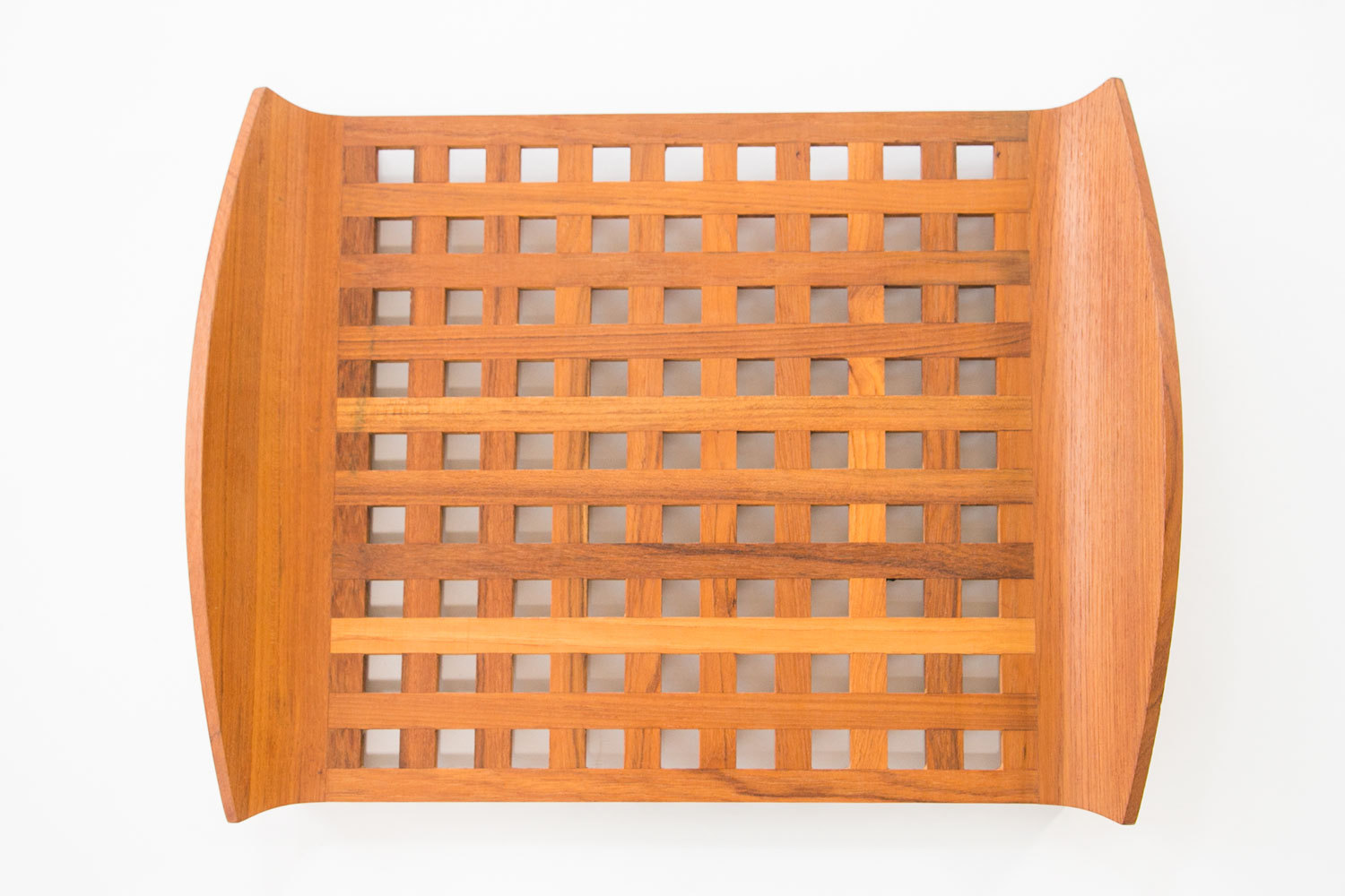 Vintage Dansk Designs 1960's JHQ Teak Lattice Serving Tray // Jens Quistgaard // Danish Modern // MCM // Mid Century Modern // Kitchenware