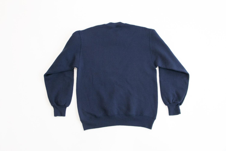 Vintage United Express Airline Crewneck Sweater // Size Medium, 38-40 // Navy Blue //  Retro, Hipster, Advertising