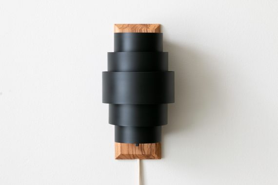 Black Sconce on Olive Ash