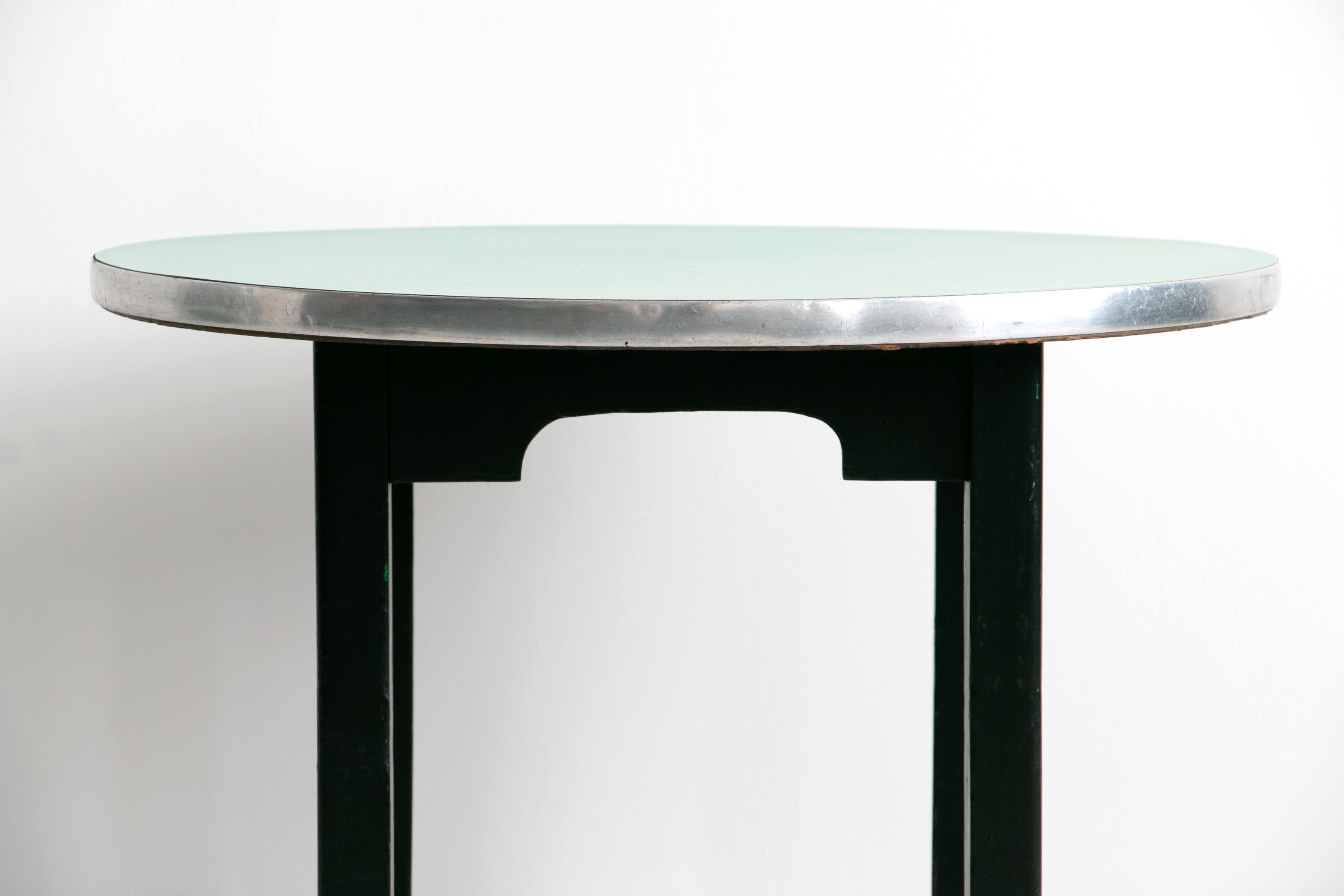 Vintage Mid Century Occassional Table with Asian Legs and Turquoise Formica Top // Asian Modern, 1950's - 1960's, Beatnick, Retro, Bohemian