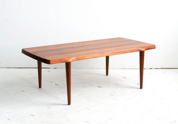 Solid Teak Wood Coffee Table by John Bone for Mikael Laursen, Denmark, 1960s