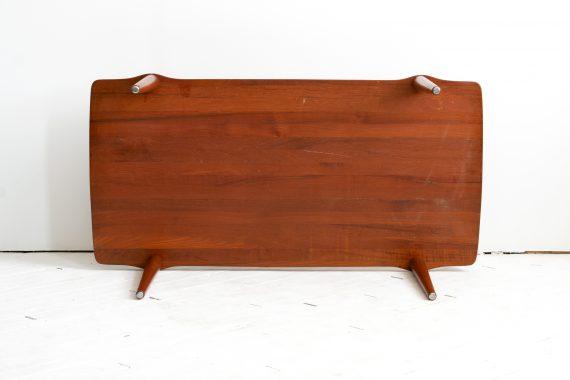 Solid Teak Wood Coffee Table by John Bone for Mikael Laursen, Denmark, 1960s-04