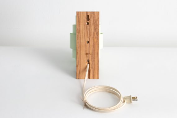 Handmade Wall Sconce, Olive Ash w/ Mint Green Shades,-06