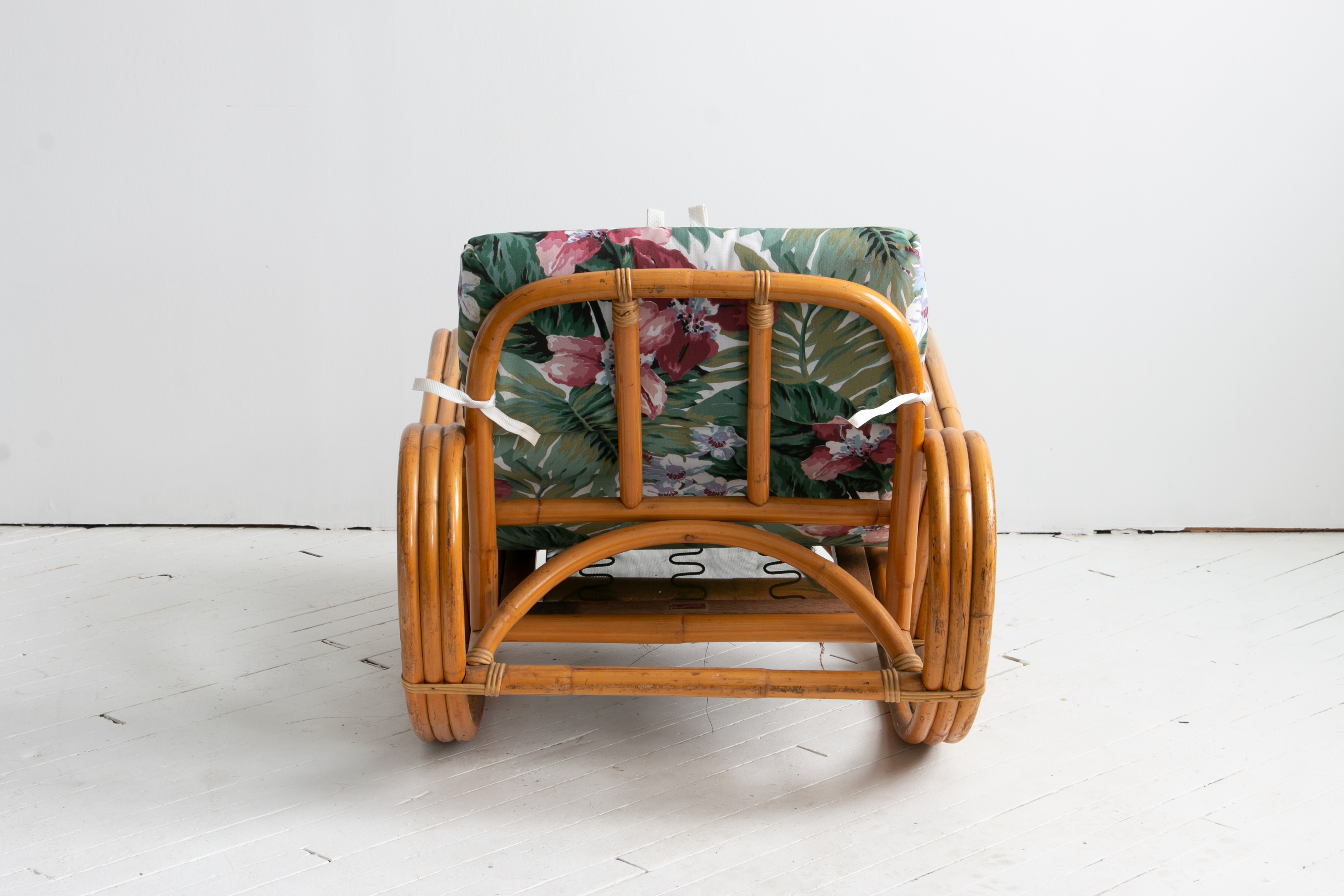 Vintage Rattan Lounge Rocking Chair with Side Table, Durattan Brand